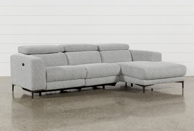 """Maddie Grey 2 Piece 109"""" Sectional With Right Arm Facing Chaise - 360"""