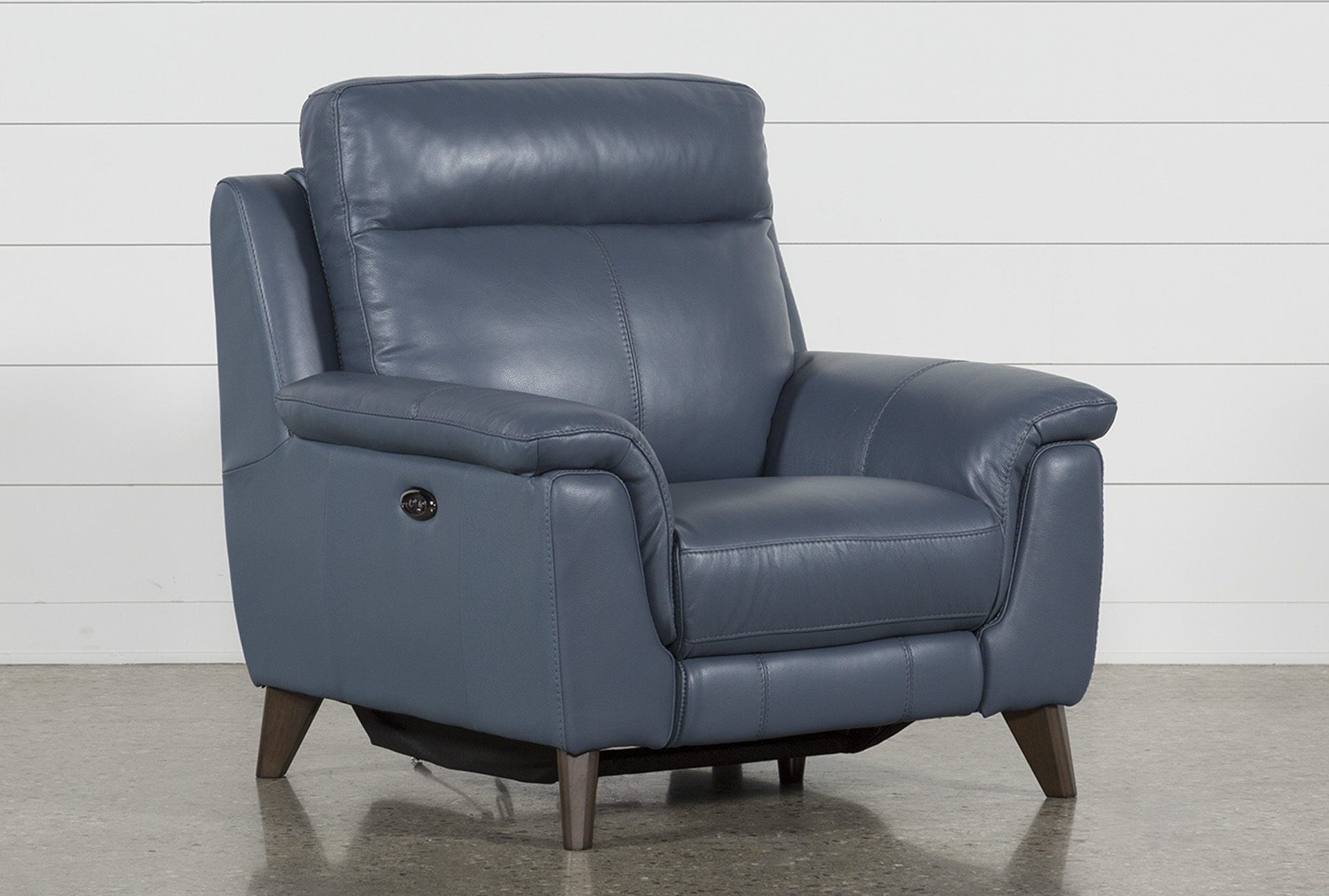 Superbe Moana Blue Leather Power Reclining Chair With Usb (Qty: 1) Has Been  Successfully Added To Your Cart.