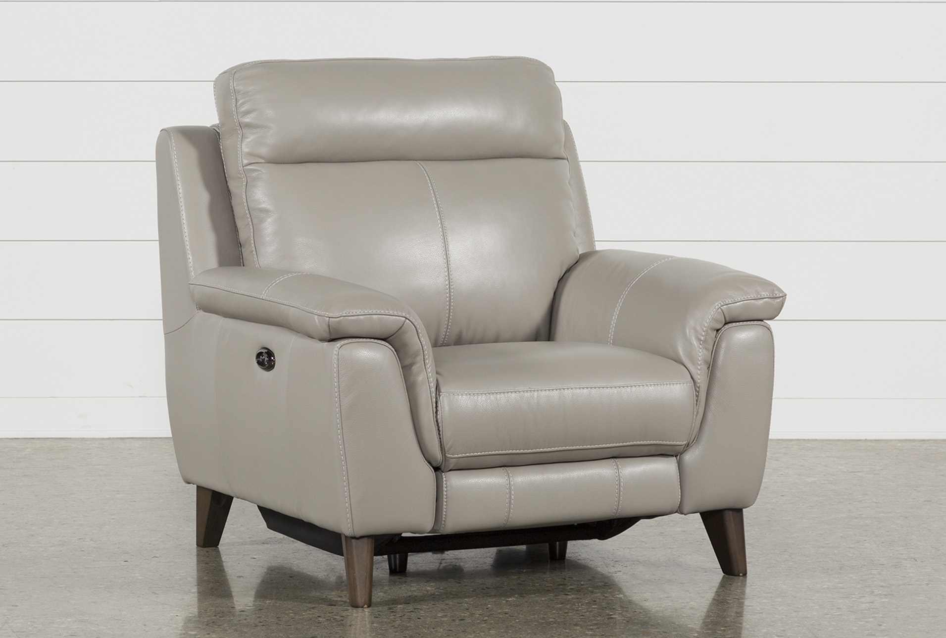 Superieur Moana Taupe Leather Power Reclining Chair With Usb (Qty: 1) Has Been  Successfully Added To Your Cart.