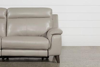 Awe Inspiring Moana Taupe Leather Dual Power Reclining Sofa With Usb Cjindustries Chair Design For Home Cjindustriesco