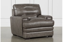 Gina Grey Leather Chair