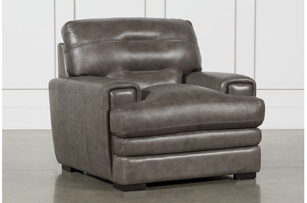 Gina Grey Leather Chair - Main