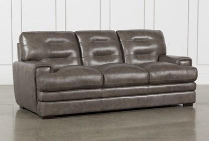 Gina Grey Leather Sofa