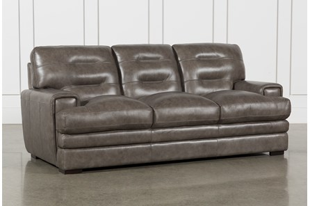 Gina Grey Leather Sofa