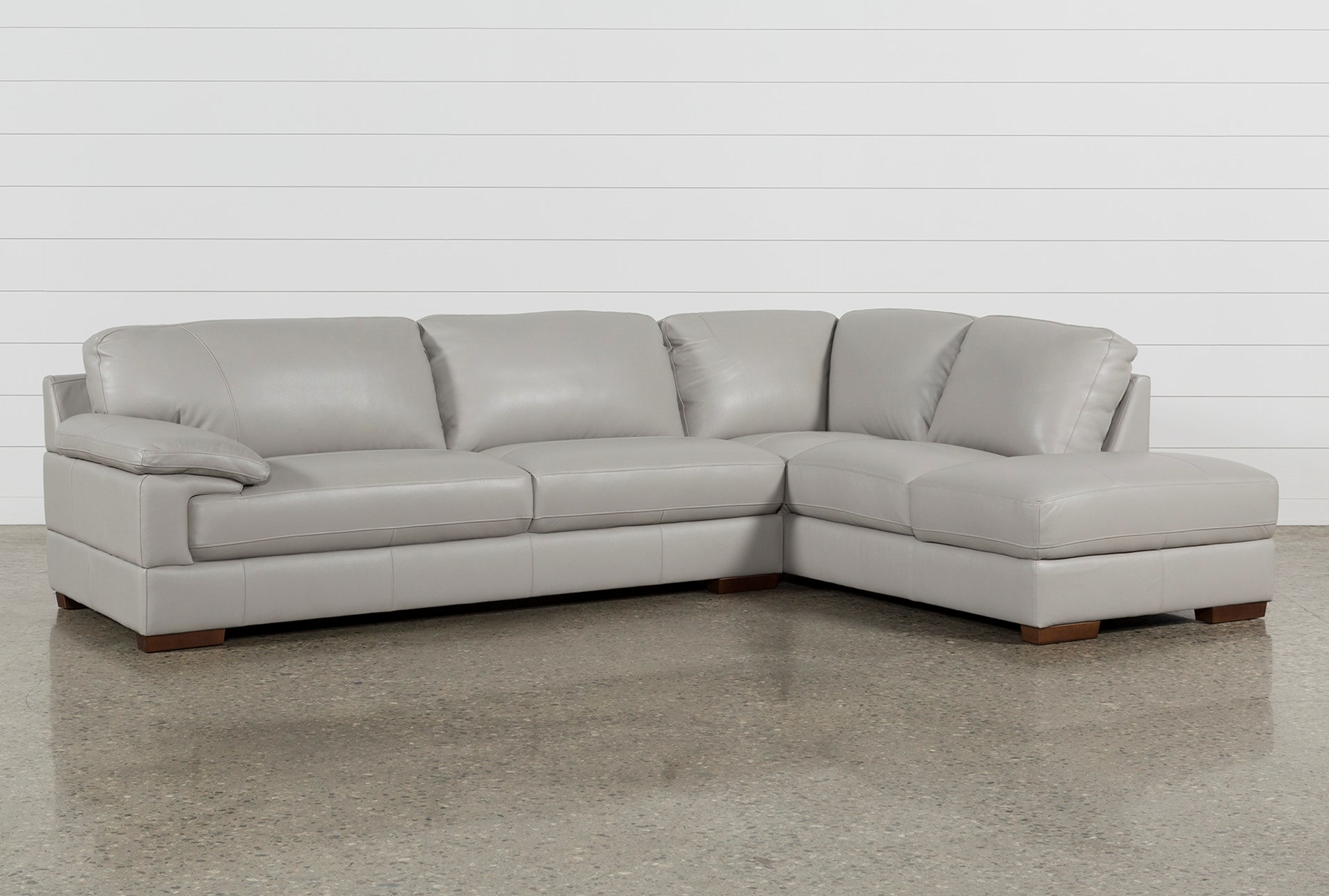 Excellent Nico Light Grey Leather Sectional With Right Arm Facing Armless Storage Chaise Forskolin Free Trial Chair Design Images Forskolin Free Trialorg