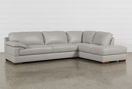 Nico Grey Sectional With Right Facing Storage Chaise