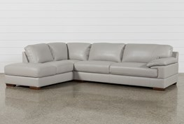 Nico Light Grey Sectional With Laf Storage Chaise