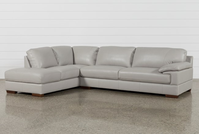 Nico Light Grey Sectional With Laf Storage Chaise - 360