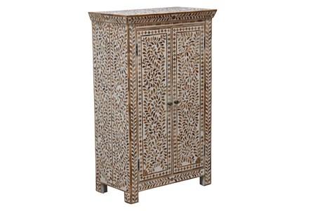 Wood Inlay 2 Door Cabinet