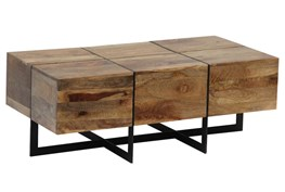 Mango Wood Metal Inlay Coffee Table