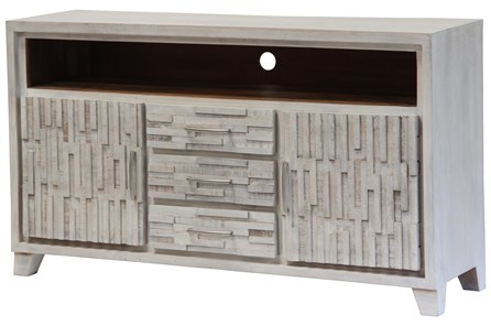 White Wash Textured Sideboard