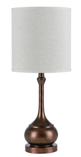 25 Inch Rust Bronze Corraline Table Lamp