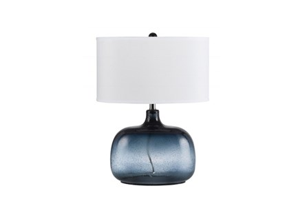 Table Lamp-Navy Tinted Glass - Main