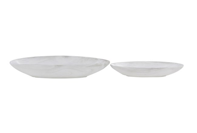 Set Of 2 White Ceramic Bowl - 360