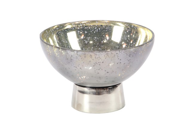 7 Inch Aluminum And Glass Bowl - 360