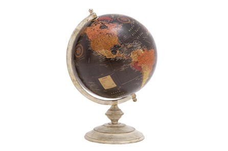 Brown Metal Globe - Main