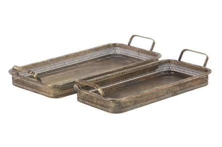 Antique Bronze Metal Tray - Main