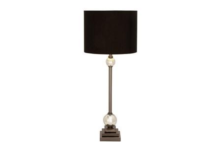 Table Lamp-Gunmetal And Black