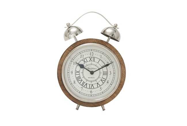 Wood And Metal Table Clock - 360