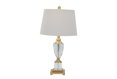 Table Lamp-Crystal And Gold