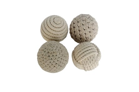 Set Of 4 Rope Balls