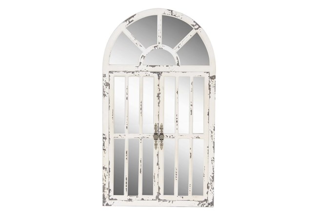 Antique White Farm Door Wall Decor - 360