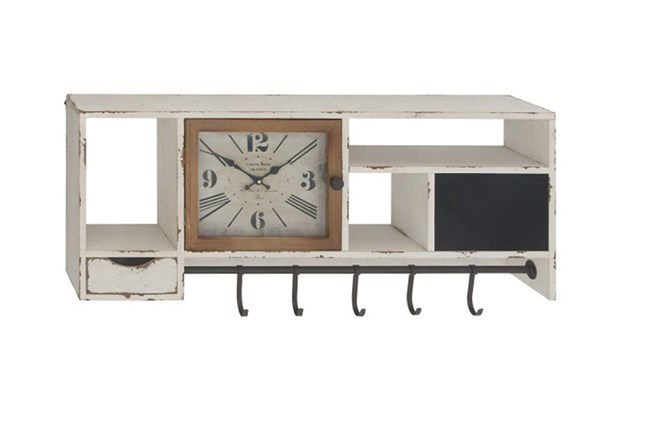 Multi Function Shelf With Clock - 360