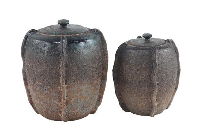 Set Of 2 Antique Ceramic Jars - 360