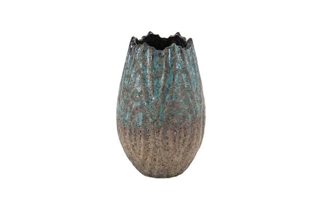 10 Inch Antique Ceramic Vase - 360