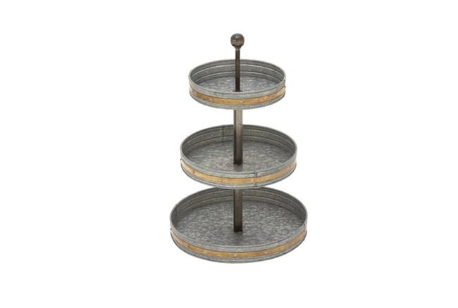 3 Tier Galvanized Tray - 360