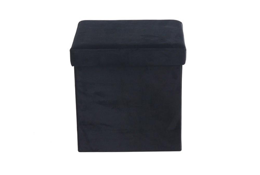Black Compactable Storage Stool
