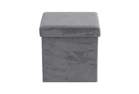 Grey Compactable Storage Stool