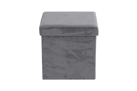 Grey Compactable Storage Stool - Main