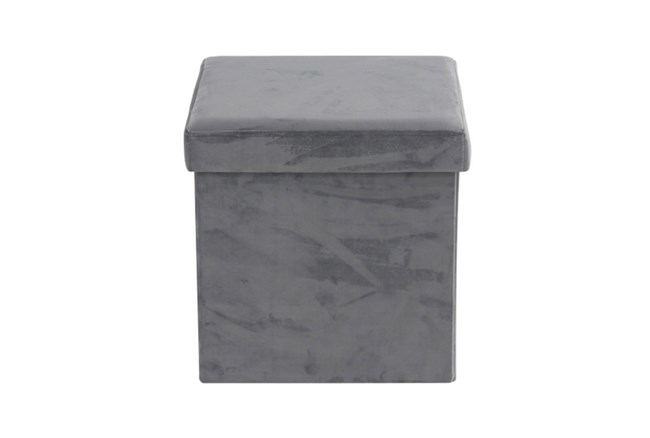 Grey Compactable Storage Stool - 360
