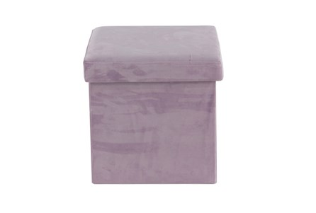 Purple Compactable Storage Stool