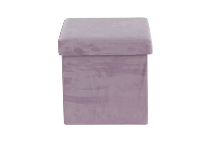 Purple Compactable Storage Stool - Main