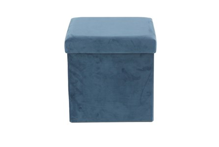 Blue Compactable Storage Stool