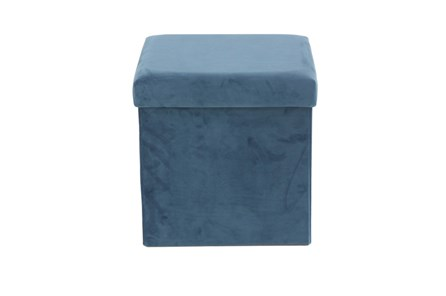 Blue Compactable Storage Stool - Main