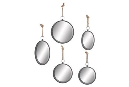 Set Of 5 Round Rope Mirror