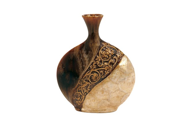 14 Inch Capiz And Shell Vase - 360