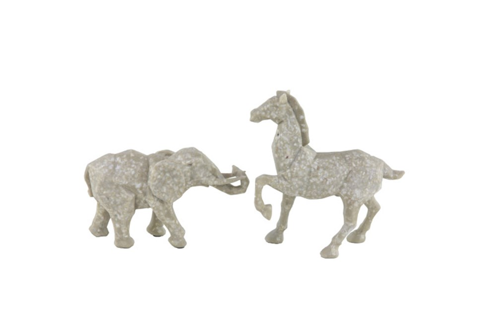 Youth-Elephant And Horse Sculpture