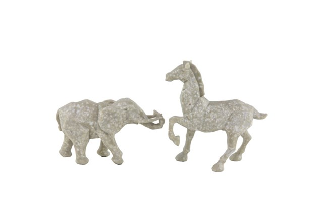 Youth-Elephant And Horse Sculpture - 360