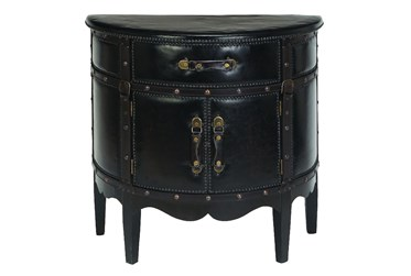 Leather Side Cabinet