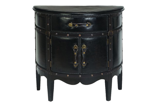 Leather Side Cabinet - 360