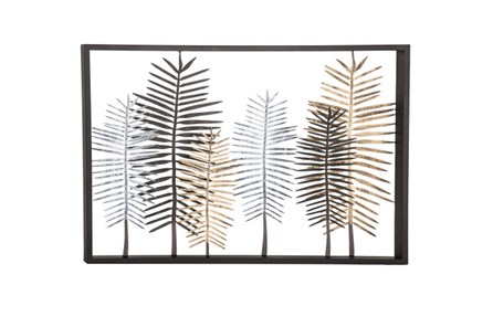 Youth-Large Feather Metal Wall Decor - Main