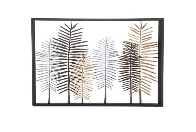 Youth-Large Feather Metal Wall Decor - 360