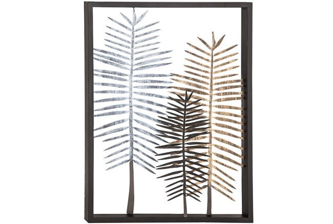 Youth-3 Feather Metal Wall Decor - 360