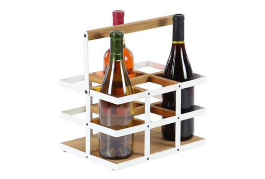 White Metal Wine Holder