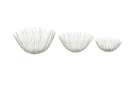 Set Of 3 Metal Wire Starburst Bowls