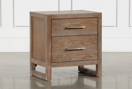 Kevin 2 Drawer Nightstand With USB